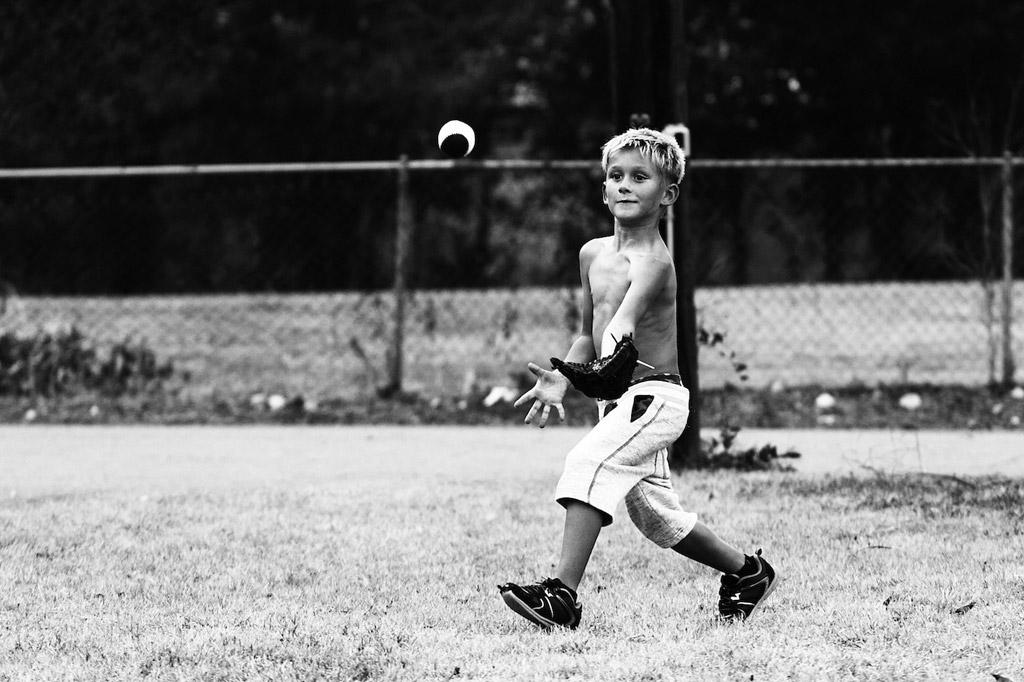息子と野球(ごっこ)